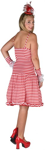 Dress striped red / white with spaghetti straps
