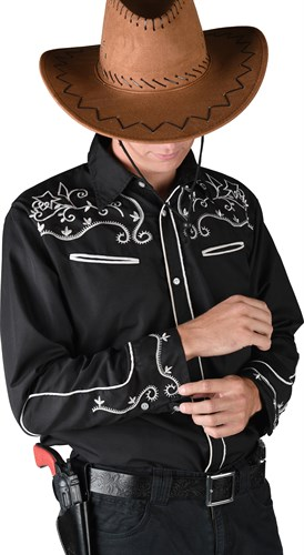 Cowboy blouse black