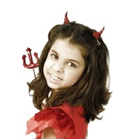 Devil horns glitter Halloween (hairclip)