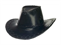 Cowboy hat, black artifical leather size 59