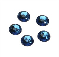 Strass circle blue 24 pcs (10 mm)