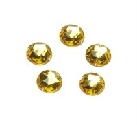 Strass circle yellow 24 pcs (10 mm)