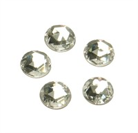 Strass circle silver 24 pcs (10 mm)