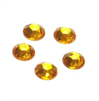Strass circle gold 24 pcs (15 mm)