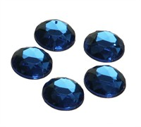 Strass circle blue 24 pcs (20 mm)