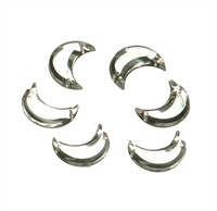 Strass moon silver 24 pcs (16 mm)