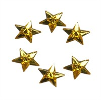 Strass star yellow 24 pcs (15 mm)