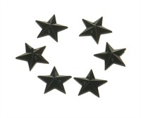 Strass star black 24 pcs (15 mm)
