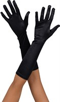 Gloves elastic long black
