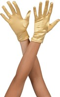Gloves satin short gold