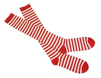Striped Socks red/white, size 36-41