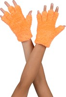 Softy Halbfinger Handschuhe neon Orange