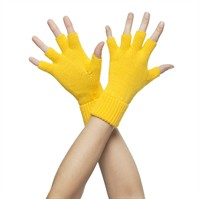 Half-finger-gloves yellow