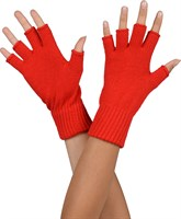 Half-finger gloves red
