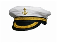Captain's hat Matthias with elastic end, one size