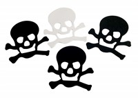 Adhesive foam skull and crossbones Halloween 12 pcs (10 cm)
