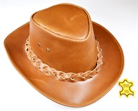 Cowboy hat (leather) cognac