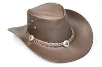 Cowboy hat (leather) dark brown