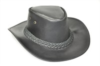 Cowboy Hat (Leather) Black