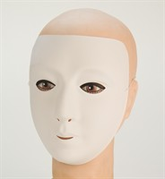 mask white unpainted Lady Halloween