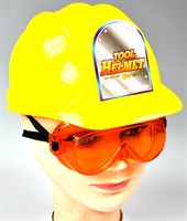 Hardhat with glasses