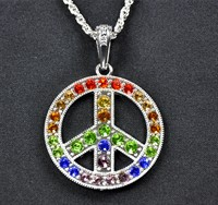 ketting  Peace Rainbow