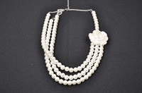 Pearl Necklace with rose