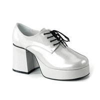 Disco shoes men silver