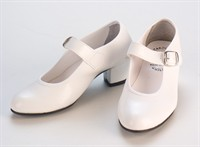dancing shoes white