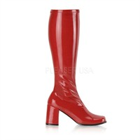 Stretch boots red