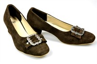 Traditional shoes pumps Oktoberfest dark brown