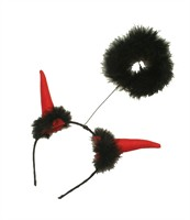 Devil and halo hair circlet Halloween (H=25 cm)