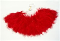 Fan red with feather