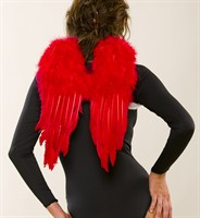Feather wing medium red Halloween (32x43 cm)