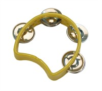 Tambourine 1/2 circle yellow (13x11 cm)