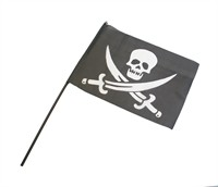 Pirate´s flag with stick L=63 cm (Flag = 40x29 cm)