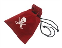 Pirate bag, red (16,5x21 cm)