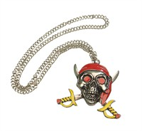 Necklace Pirate red (10x9 cm)