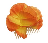 Flower orange with comb attachment (Ø=9 cm)
