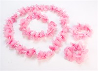 hawai ketting A+S-band rose/wit