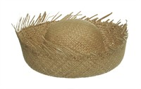 Fringed hat scarecrow, one size (H=13 cm)
