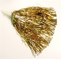Cheerleader foil gold with ring per piece (L=26 cm) 180Gr.