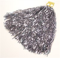 Cheerleader foil silver with ring per piece (L=26 cm)180Gr.