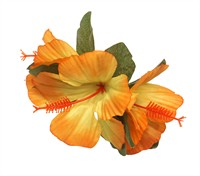 Orchidee-haarclip orange (9x12 cm)