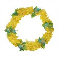 Hawaian necklace Malibu yellow (L=90 cm)