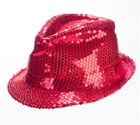 hat red sequins