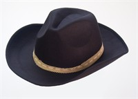 Cowboy hat black imitation felt