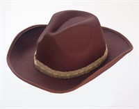 Cowboy hat brown imitation felt