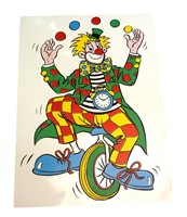 Circus bicycle window sticker (66x45 cm)