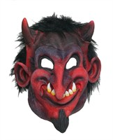 Devil mask Halloween with black fur
